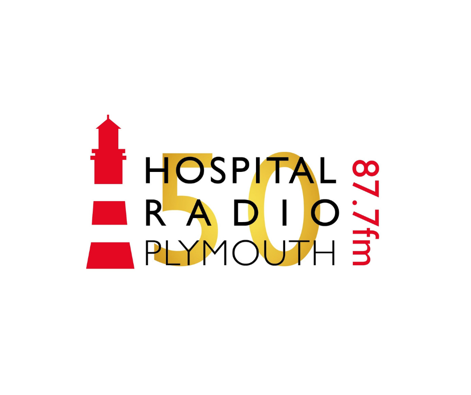 Hospital Radio Plymouth 50th Anniversary logo